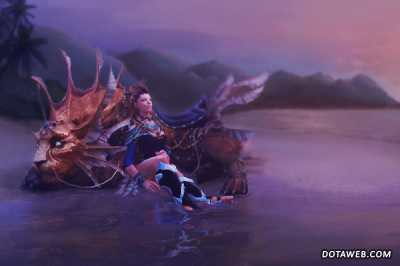 Heiress of the Coastal Kingdom Loading Screen - Dota 2