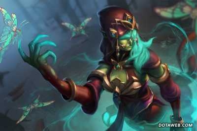 Loading Screen of the Mothbinder - Dota 2