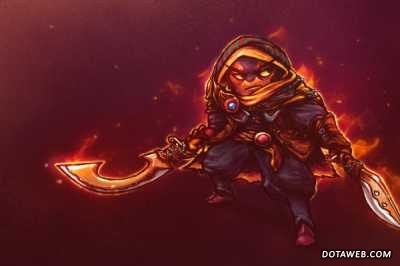 Loading Screen of the Wandering Flame - Dota 2